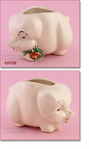 McCoy Pottery Roly Poly Pig Planter