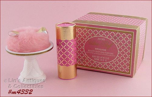 Vintage Avon Ultra Fluff with Brocade Beauty Dust MIB
