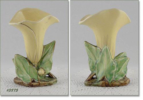 McCoy Pottery Yellow Single Lily Vase
