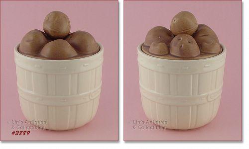 McCoy Pottery Basket of Potatoes Cookie Jar