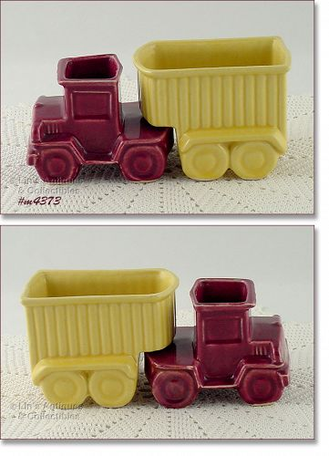 SHAWNEE POTTERY VINTAGE TRUCK AND TRAILER PLANTERS