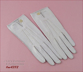 VINTAGE VAN RAALTE LEATHER GLOVES (MINT)
