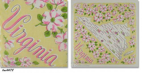 State Souvenir Handkerchief Virginia