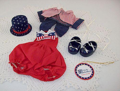 Hoppy VanderHare Muffy VanderBear Wear Yankee Doodle July 4th Outfit