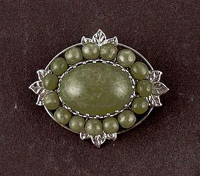 Vintage Miriam Haskell Pin Brooch Signed