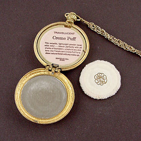 """Vintage Pocket Watch Style """"Diana"""" Compact Made by Max Factor"""