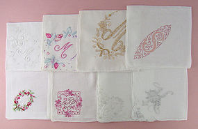 Choice of Vintage Monogram Handkerchiefs Some have sold see listing