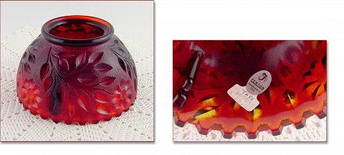 Amberina Fenton Fairy Lamp Glass Shade
