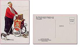 Mr B the Dutch Organ Grinder Pellas Tulip Time Parades Postcard