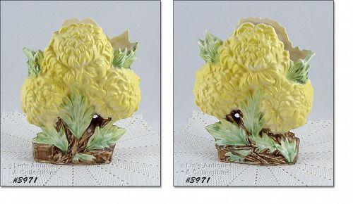 McCoy Yellow Chrysanthemums Flower Form Vase
