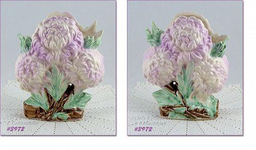 McCoy Lilac Color Chrysanthemums Flower Form Vase