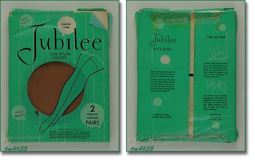 2 PAIRS JUBILEE VINTAGE SEAMLESS STOCKINGS MIP