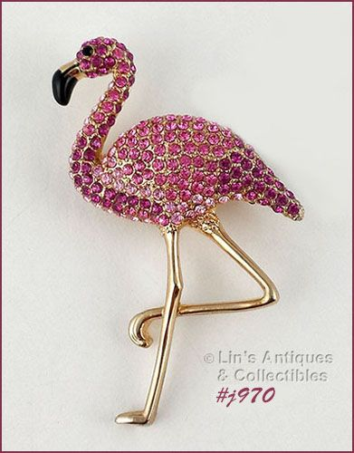 EISENBERG ICE DIFFICULT TO FIND PINK FLAMINGO PIN
