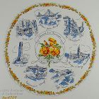 Vintage City of San Francisco Souvenir Hanky Round