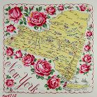 Vintage State Hanky for New York
