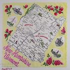 Vintage State Hanky for New Hampshire and Vermont