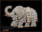 Signed Eisenberg Ice Rhinestone Elephant Pin