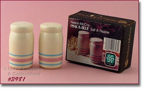 McCoy Pink and Blue Shaker Set in Original Box