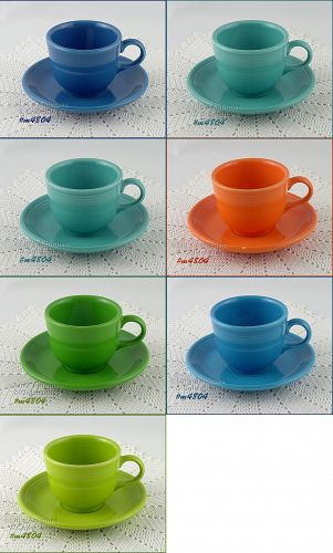 CHOICE OF FIESTA CUP AND MATCHING SAUCER SETS