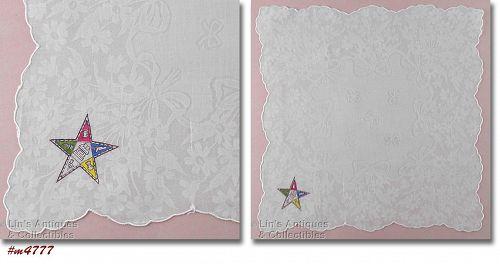 ORDER OF THE EASTERN STAR VINTAGE HANDKERCHIEF