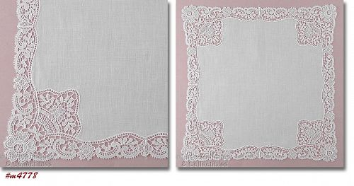 Vintage Wedding Hanky with Lace Edge