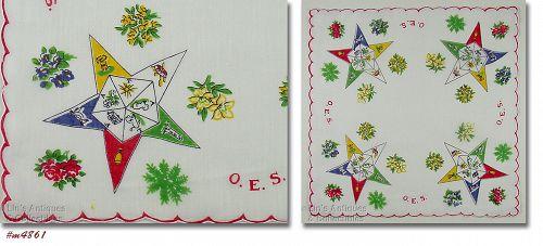 Vintage Handkerchief Order of the Eastern Star