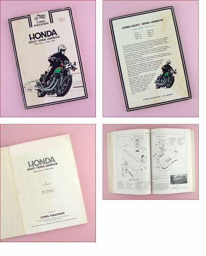 Honda Service Repair Handbook 750 CC Fours 1969 - 1976 Clymer