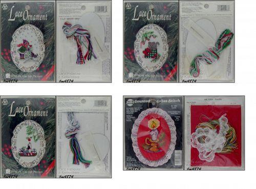 Vintage Cross Stitch Christmas Ornament Kits 3 Plus 1 Free
