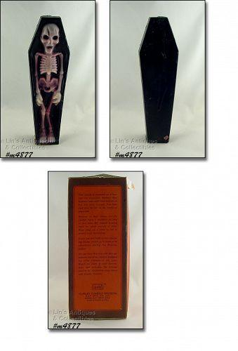 Gurley Skeleton in Coffin Vintage Halloween Candle