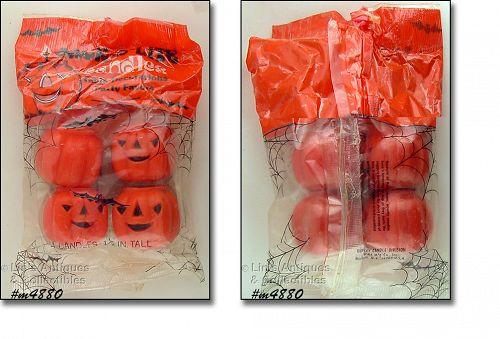 Vintage Gurley Candles Halloween Jack O Lite In Package