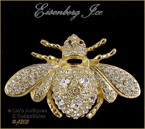 Eisenberg Ice Signed Large Bumble Bee Pin Brooch