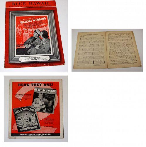 Vintage Sheet Music Blue Hawaii