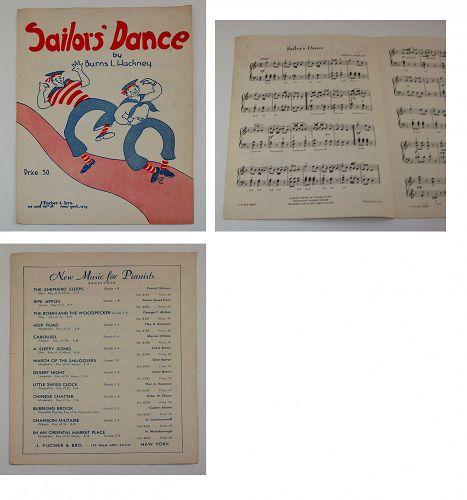 Vintage Sheet Music Sailors Dance
