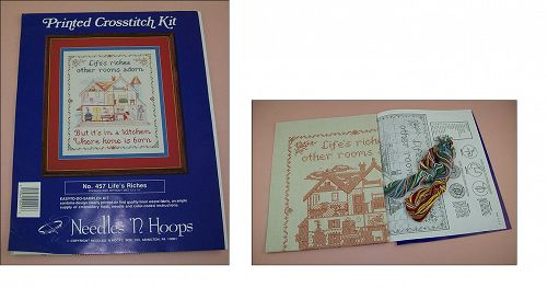 Lifes Riches Sampler Printed Cross Stitch Kit NOS