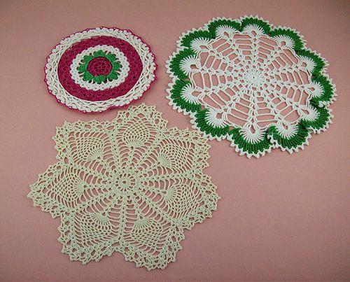 Vintage Crochet Doilies Lot of Three