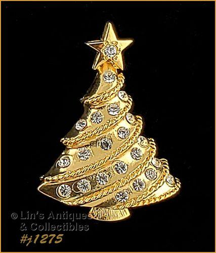 Signed Eisenberg Ice Small Christmas Tree Pin