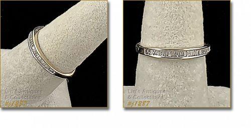 10k White Gold Baguette Diamond Ring