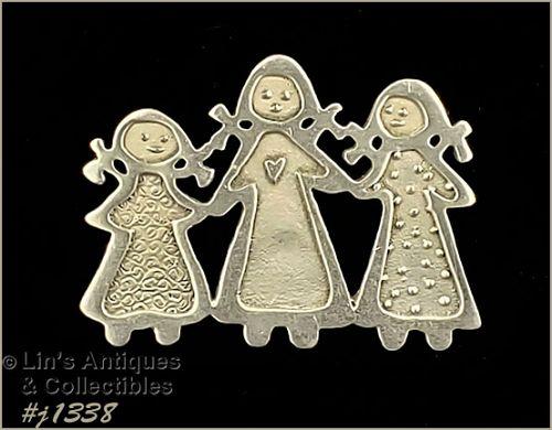Three Sisters Pin by Cynthia Webb