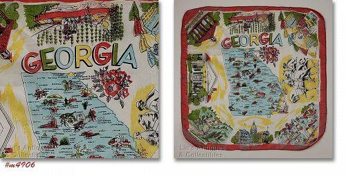 Vintage State Souvenir Scarf Georgia