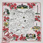 Vintage State Souvenir Hanky for Ohio The Buckeye State