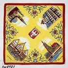 Vintage Souvenir Handkerchief Frankfurt Germany