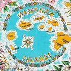 Vintage Souvenir Hanky Hawaiian Islands