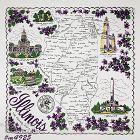 Vintage State Souvenir Hanky Illinois The Prairie State