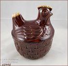 McCoy Pottery Chicken on Basket Cookie Jar