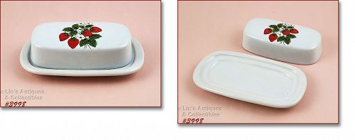 McCoy Pottery Covered Butter Dish