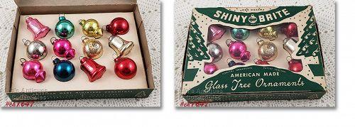 Shiny Brite Vintage Glass Christmas Ornaments