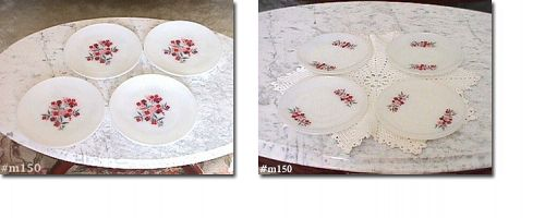 FIRE KING PRIMROSE PLATES AND SAUCERS 4 OF EACH EXCELLENT CONDITION