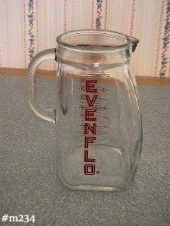 Vintage EvenFlo Advertising Glass Milk Pitcher