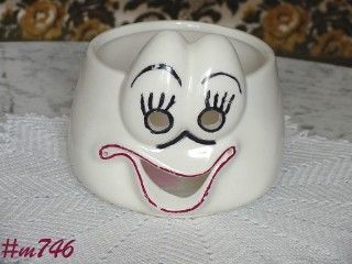 Vintage Ungemach Pottery Ghost Bowl or Candle Holder