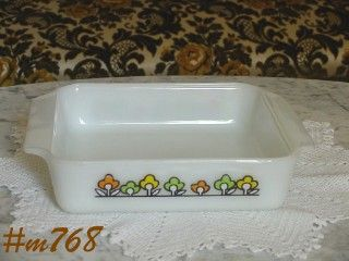FIRE KING SQUARE CAKE PAN SUMMER FIELD LINE